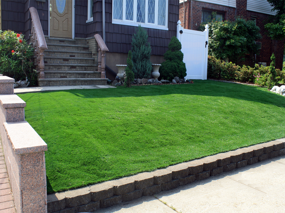 Attractive Fake Turf Running Springs, California Paver Patio, Front Yard Landscaping