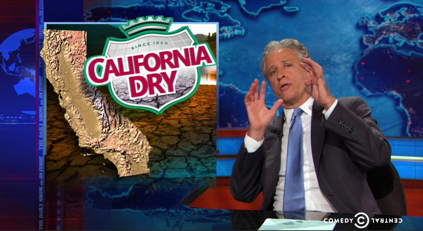 fakegrass Jon Stewart References California as a Jurassic World But This Time... BOOM! Everything Went Horribly Wrong.