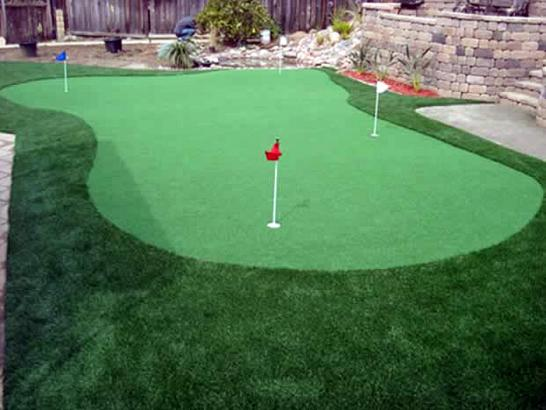 Fake Turf Los Serranos, California Outdoor Putting Green, Beautiful Backyards artificial grass